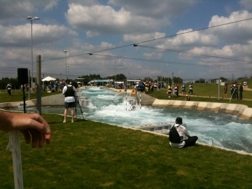 Racing at London 2012 canoe slalom invitational test event