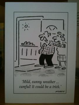 British weather postcard