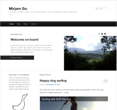 Screen shot Mirjam website