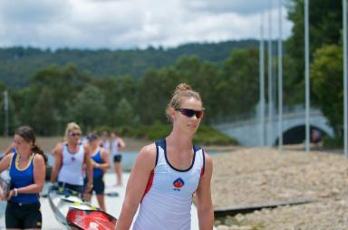 Alyce Burnett at 2012 NSW State Championships - Canoe Sprint