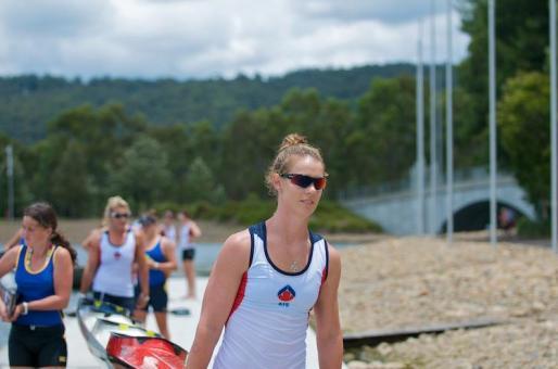 Alyce Burnett at 2012 NSW State Championships - Canoe Sprint
