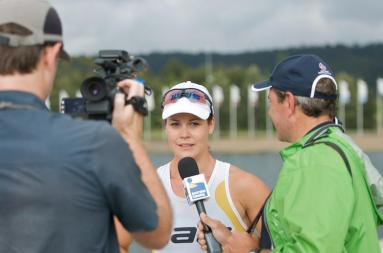 Alana Nicholls at 2012 NSW State Championships - Canoe Sprint